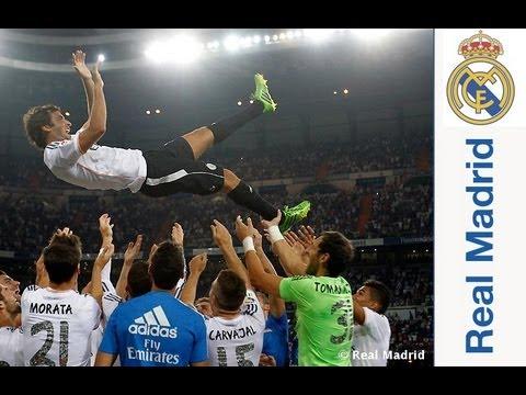 Así fue el homenaje a Raúl González en el Santiago Bernabéu