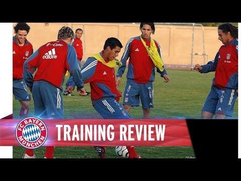 Schweinsteiger, Makaay & Lucio im Training mit Felix Magath