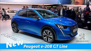 New Peugeot e-208 GT line 2019 - first look | Geneva Auto Show 2019