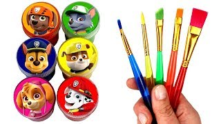 Paw Patrol Drawing & Painting with Surprise Toys Chase Rocky Rubble Skye Everest Ryder Marshall Toys