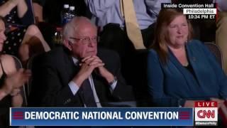 Bernie Sanders curbs his enthusiasm at the DNC