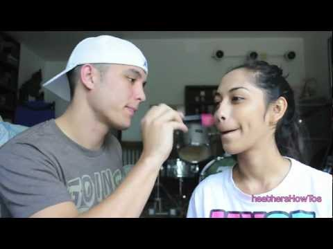 my boyfriend does my makeup...terribly!