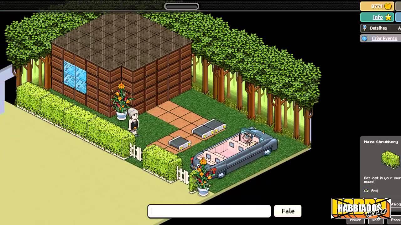 Habbo entrada de casa constru o rel mpago youtube for Casa moderna de habbo
