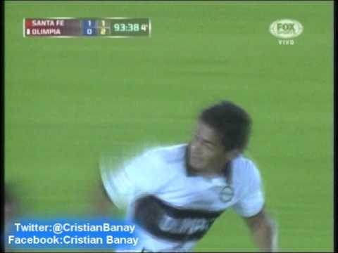 Santa Fe 1 Olimpia de Paraguay 0 (Relato Bruno Pont) Copa Libertadores 2013 Olimpia Finalista