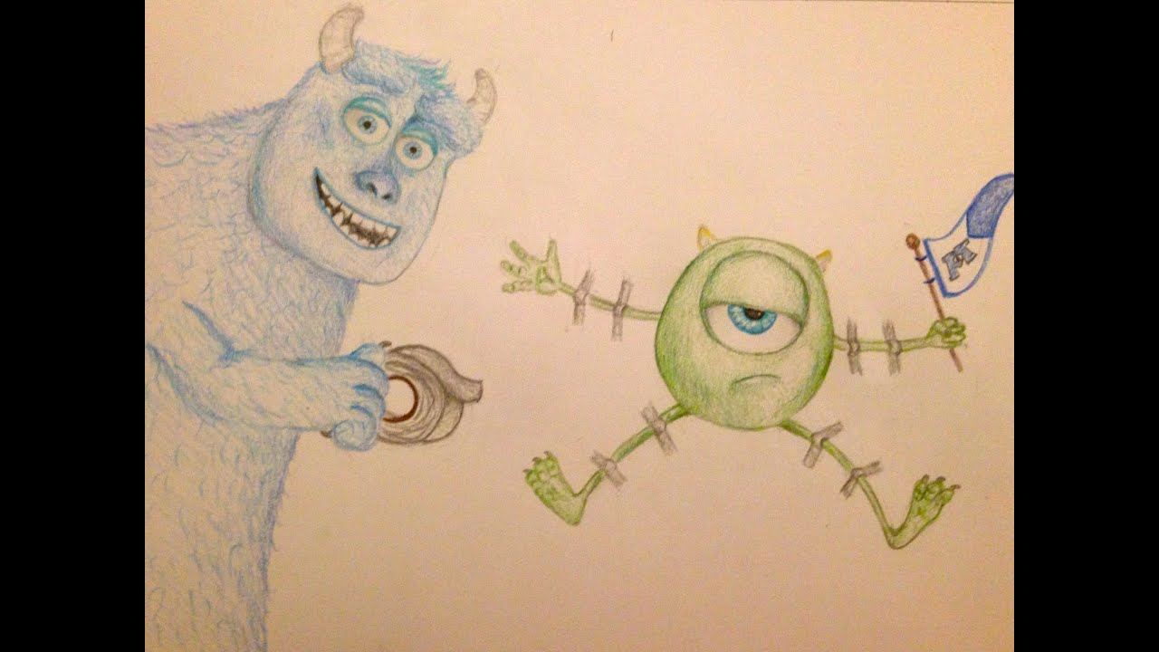 Mike Wazowski And Sully Drawing How to Draw Mike Sully