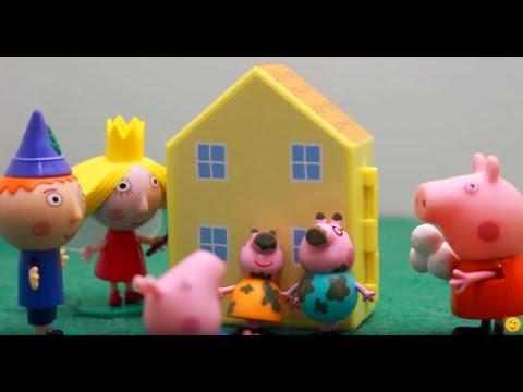 Мультфильм игрушками Свинка Пиги Pig. Вредина Гастон