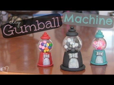 DIY: Clay GUMBALL MACHINE with Glass