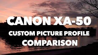 Canon XA-50 and XA-55 | Custom Picture Profile Comparison (2021)