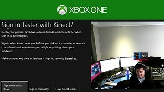 XBOX ONE - First Boot Up, System Update, KINECT, LIVE Gold Account Recovery, & Tech Demo