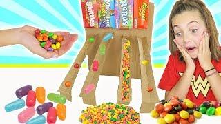 How To Build DIY Cardboard Candy Dispenser Vending Machine   Kids Crafts