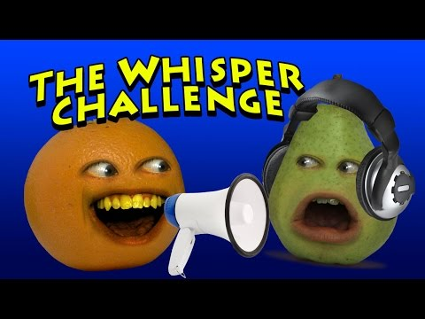 Annoying Orange - The Whisper Challenge (w/ Pear)