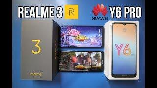 REALME 3 Vs HUAWEI Y6 PRO (PUBG,BATTERY & CAMERA) - TAGALOG REVIEW