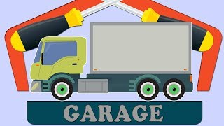 Delivery Truck Car Garage For Kids | Cartoon about cars for Children and babies | Fun to learn