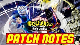 My Hero One's Justice 1.05 Patch Notes
