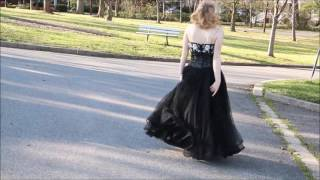 1950s Style 3D Sequin Dress by Walk in Vintage, Black Tie Event, Vintage Prom Dress