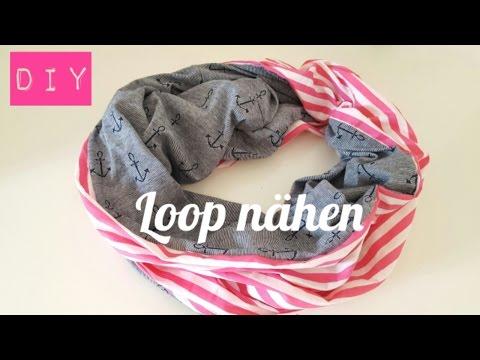 Loop OHNE Schnittmuster I Schlauchschal I Nähen für Anfänger Ideen I ...