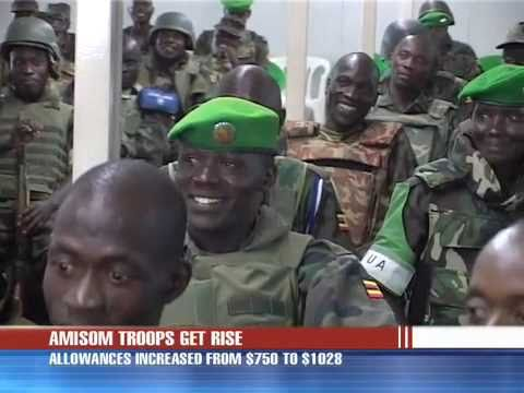 AMISOM troops return - somali video - voice over ip