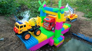 Construction Trucks Shape for Kids - Water Tank Trucks for Chidlren