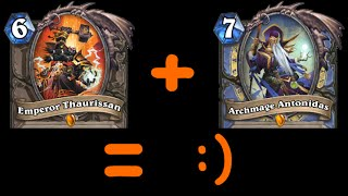 [Hearthstone] Infinite Damage OTK (Antonidas and Thaurissan fun)