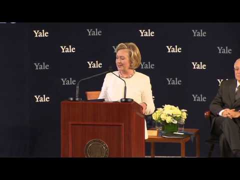Secretary Hillary Rodham Clinton '73 Accepts the Yale Law School Award of Merit