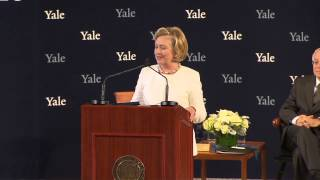 Secretary Hillary Rodham Clinton '73 Accepts the Yale Law School Award of Merit