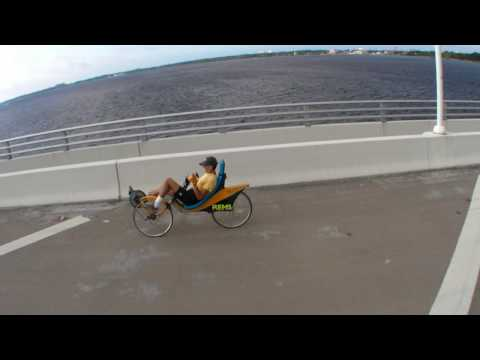 SOFABIKE in Action climing bridge