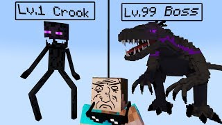 Monster School: Lv.1 Crook vs Lv.99 Boss - Minecraft Animation