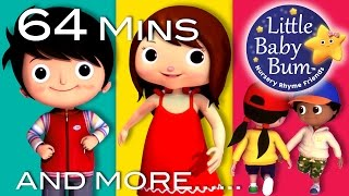 Here We Go Looby Loo | Plus Lots More Nursery Rhymes | 64 Minutes Compilation from LittleBabyBum!