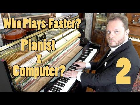 Who Plays Faster? Pianist or Computer II? Vídeos de zueiras e brincadeiras: zuera, video clips, brincadeiras, pegadinhas, lançamentos, vídeos, sustos