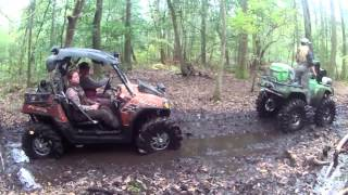 Taking on the Black Swamp of Outback ATV Park wth Arctic Cats