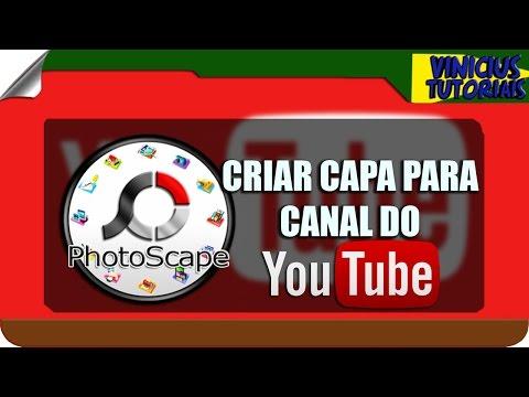 COMO CRIAR UMA CAPA PARA SEU CANAL DO YOUTUBE NO FOTOSCAPE 2016 thumbnail
