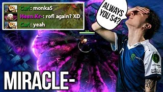 Miracle Invoker vs cancel^^ QoP - Why Always Matched vs s4?! - Dota 2