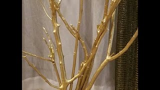 DIY:  GOLD TREE Out Of Branches