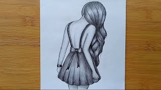 How to draw a girl with pencil sketch step by step.