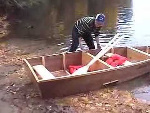 The boy mechanic project portable folding boat youtube for Portable fishing boat