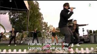 Eric Saade,  Popular.  Allsang p Grensen. 23.06.2011