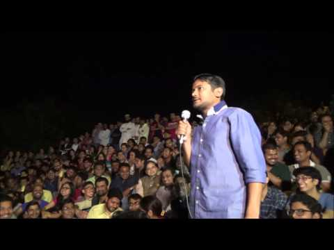 Kanhaiya Kumar speaking prior to Shashi Tharoor's lecture 20th March