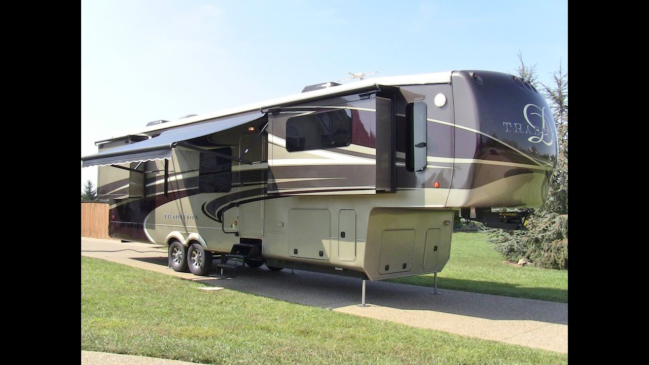 2014 drv tradition 390 fully loaded used luxury 5th wheel - Front living room fifth wheel used ...