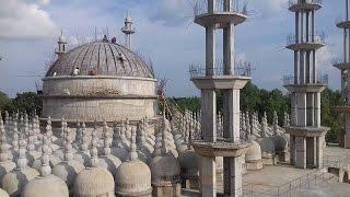 সবুজে ঘেরা প্রাকৃতিক পরিবেশে পর্যটকদের আগমনে মুখরিত টাঙ্গাইলে নির্মাণাধীন ২০১ গম্বুজ জামে মসজিদ