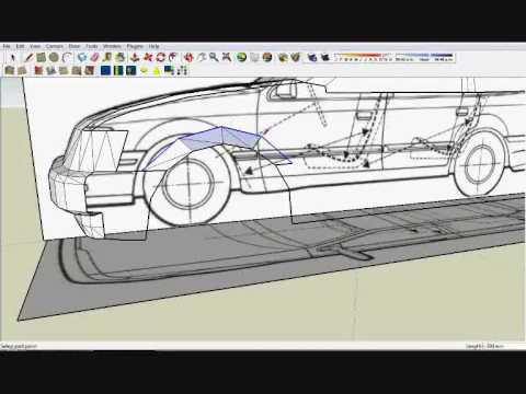 google sketchup how to model a simple car youtube. Black Bedroom Furniture Sets. Home Design Ideas