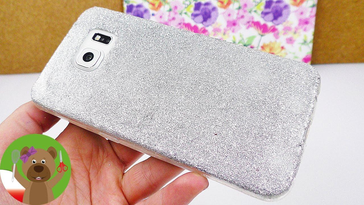 DIY Inspiration Challenge #84 | etui na smartfona ze srebrnym brokatem naklejonym klejem