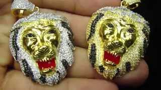 Medusa Lion Rasta Head Pendant Kanye West Style by Mr Chris Da Jeweler