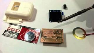 Attiny85 Keychain Game Kit Assembly. UFO Escape