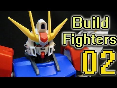 Gundam Build Fighters Episode 2 Review - Unnniiivvvverrrse!!! ガンダムビルドファイターズ