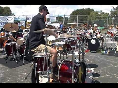 Ed Francis Drum Solo: Hairy Man Festival 2010
