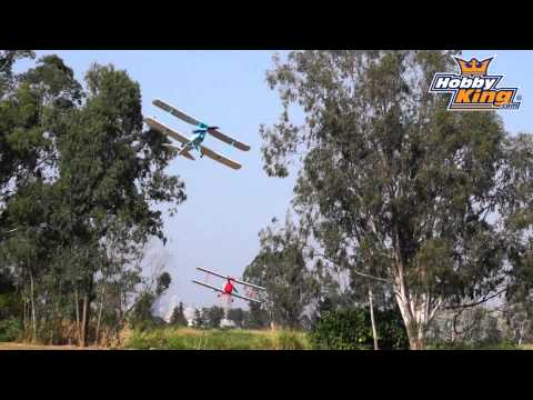 HobbyKing Product Video - Tigermoth Formation Flight
