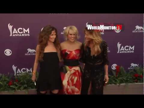 Carrie Underwood, Faith Hill, Shania Twain arrive at 48th Annual Country Music Awards