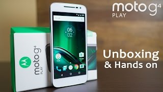 MOTO G4 PLAY Unboxing & Hands on Review (vs Redmi 3S Prime)