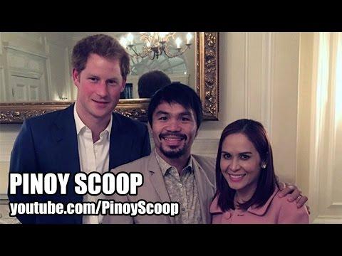 Manny Pacquiao And Wife Jinkee Meet Prince Harry video