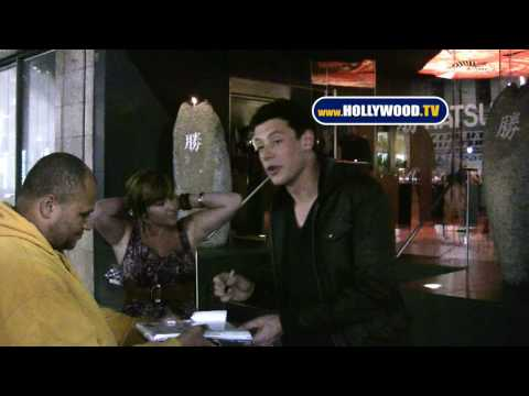 Cory Monteith Leaves Katsuya Video